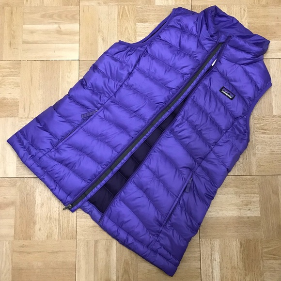Patagonia Other - Patagonia Girls Purple Puffer Lightweight Vest